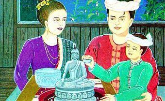 KELUARGA BUDDHIS YANG BAHAGIA BERSAMA AJARAN BUDDHA