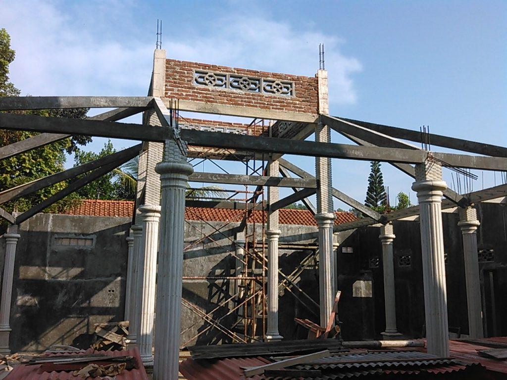 Pendopo dan kuti vihara setia dana sumpiuh banyumas jawa tengah sedang dibangun share by tisaranaDotNet